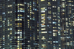 Fondo de la ciudad de la noche Fotos de archivo