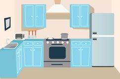 Fondo de la cocina del juego y de la historieta libre illustration