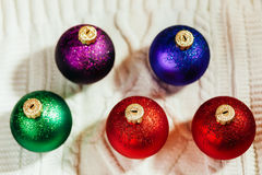 Fondo de la colección de las bolas del Año Nuevo Fotografía de archivo libre de regalías