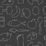 Fondo de la comida de la aptitud Imagen de archivo