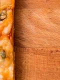 Fondo de la comida de la pizza Imágenes de archivo libres de regalías