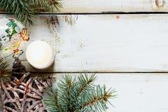 Fondo de la composición de la Navidad Foto de archivo libre de regalías