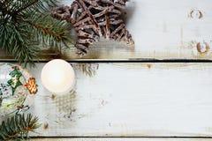 Fondo de la composición de la Navidad Fotos de archivo libres de regalías