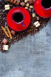 Fondo de la composición del café Foto de archivo