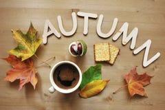 Fondo de la composición del humor del otoño Imágenes de archivo libres de regalías