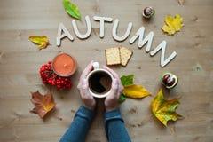 Fondo de la composición del humor del otoño Foto de archivo libre de regalías