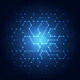 Fondo de la comunicación de la tecnología de red, ejemplo del vector Fotografía de archivo libre de regalías