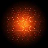 Fondo de la comunicación de la tecnología de red, ejemplo del vector Foto de archivo libre de regalías
