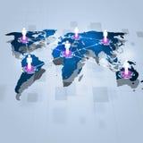 Fondo de la comunicación de la tecnología del concepto Imagen de archivo libre de regalías