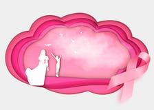 Fondo de la conciencia del cáncer de pecho Imágenes de archivo libres de regalías