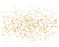 Fondo de la conexión de la molécula Foto de archivo libre de regalías