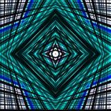 Fondo de la confusión Líneas y cuadrados en azul y negro Imagenes de archivo