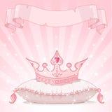 Fondo de la corona de la princesa