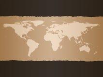 Fondo de la correspondencia de mundo Imagen de archivo