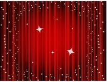 Fondo de la cortina del teatro, cortina de la película Fotografía de archivo