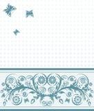 fondo de la cubierta con el ornamento de la flor Fotografía de archivo libre de regalías