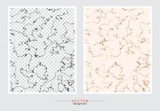 Fondo de la cubierta del mármol del oro, plantilla determinada del vector stock de ilustración