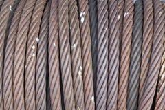 Fondo de la cuerda del hierro Imagen de archivo libre de regalías