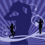 Fondo de la danza Foto de archivo libre de regalías