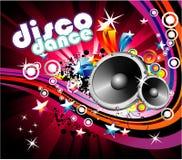 Fondo de la danza del disco Fotografía de archivo