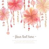 Fondo de la decoración de la flor Imagen de archivo libre de regalías