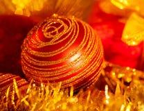 Fondo de la decoración de la Navidad Fotos de archivo