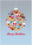 Fondo de la decoración de la Navidad Fotografía de archivo