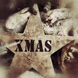 Fondo de la decoración de la Navidad Imágenes de archivo libres de regalías