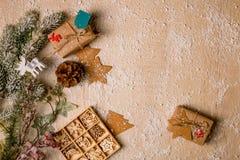 Fondo de la decoración de la Navidad Imagenes de archivo