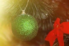 Fondo 2017 de la decoración de la Navidad Fotografía de archivo