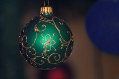 Fondo 2017 de la decoración de la Navidad Fotos de archivo
