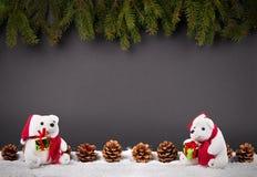 Fondo de la decoración de la Navidad o del Año Nuevo: ramas del piel-árbol, Imagen de archivo