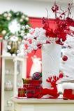 Fondo de la decoración de la Navidad y del Año Nuevo Fotografía de archivo