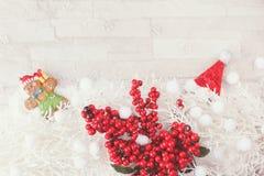 Fondo de la decoración de la Navidad y del Año Nuevo Foto de archivo
