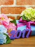 Fondo de la decoración del concepto de la Feliz Año Nuevo Fotografía de archivo libre de regalías
