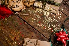 Fondo de la decoración del día de fiesta de la Navidad Fotos de archivo