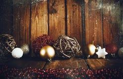 Fondo de la decoración del grunge de Navidad Fotos de archivo