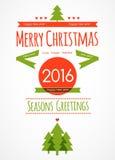 Fondo de la decoración del ornamento de la postal de la Navidad Ilustración EPS 10 del vector Imágenes de archivo libres de regalías