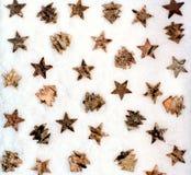 Fondo de la decoración de la Navidad Imagen de archivo libre de regalías
