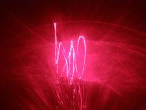 Fondo de la demostración del laser Fotografía de archivo