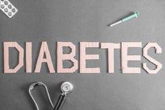 Fondo de la diabetes foto de archivo libre de regalías