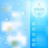 Fondo de la ecología Imagen de archivo libre de regalías