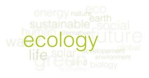 Fondo de la ecología - 3d redacta la nube en blanco Foto de archivo libre de regalías
