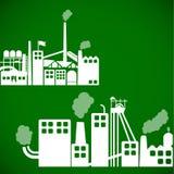 Fondo de la ecología - concepto industrial stock de ilustración