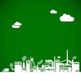 Fondo de la ecología - concepto industrial Imagen de archivo libre de regalías