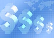 Fondo de la economía mundial Imagen de archivo libre de regalías