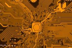 Fondo de la electrónica de la placa de circuito Foto de archivo libre de regalías