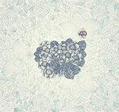 Fondo de la elegancia con las flores ilustración del vector