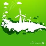 Fondo de la energía eólica Foto de archivo libre de regalías