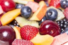 Fondo de la ensalada de fruta Fotografía de archivo